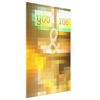 You & Me Mosaic Stained Glass Geometric Earthy Canvas Print