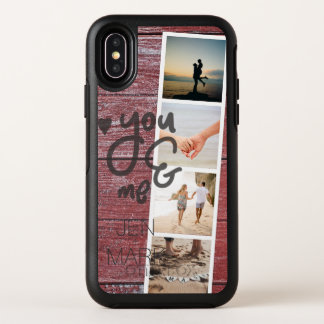 You & Me. Photo Collage of Memories. Red Wood. OtterBox Symmetry iPhone X Case