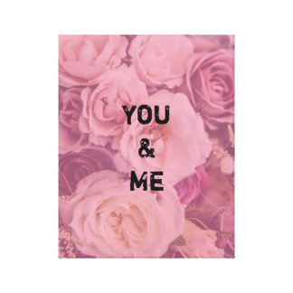 """You & Me"" Romantic Roses Canvas Print"