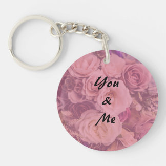 """You & Me""  Romantic Roses Keychain"