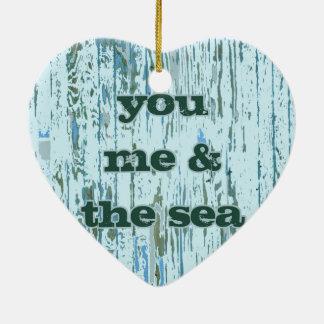 You Me & The Sea Ceramic Ornament