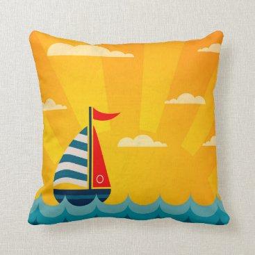 Beach Themed You Me & The Sea Throw Pillow