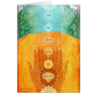 You Me Then Now Us Always Greeting Card