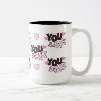 You & Me Two-Tone Coffee Mug