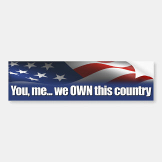 You, me... we own this country! Anti Obama Car Bumper Sticker