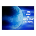 """Hand shaped """"YOU MEAN THE WORLD TO ME"""" SWEETHEART BIRTHDAY CARD"""