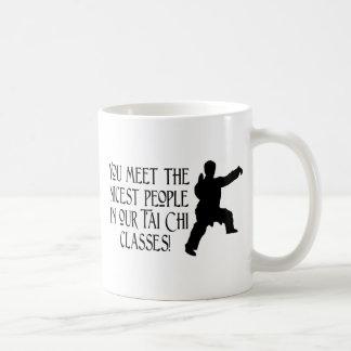 You meet the nicest people coffee mug