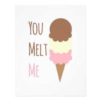 You Melt Me Letterhead