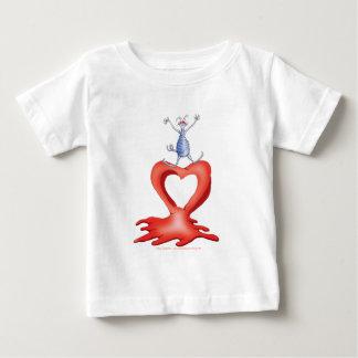 you melt my heart - cat cartoon, tony fernandes baby T-Shirt