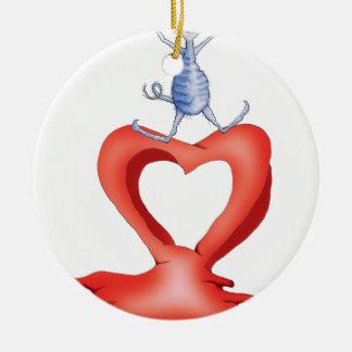 you melt my heart - cat cartoon, tony fernandes ceramic ornament