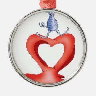 you melt my heart - cat cartoon, tony fernandes metal ornament