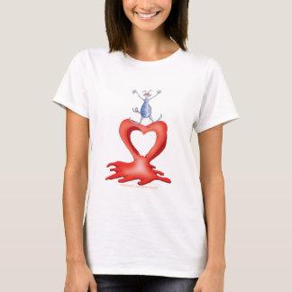you melt my heart - cat cartoon, tony fernandes T-Shirt