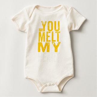 You Melt My Heart Sweet Love Lover Valentine's Day Baby Bodysuit