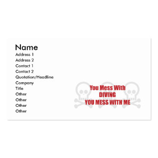 You Mess With Diving You Mess With Me Double-Sided Standard Business Cards (Pack Of 100)