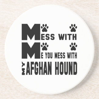 You mess with my Afghan Hound Coaster