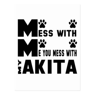 You mess with my Akita Postcard