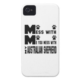 You mess with my Australian Shepherd Case-Mate iPhone 4 Case
