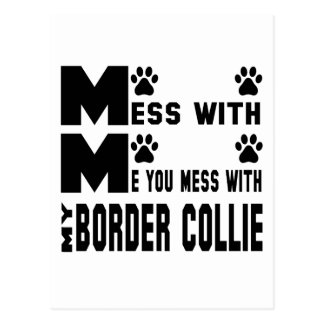 You mess with my Border Collie Postcard