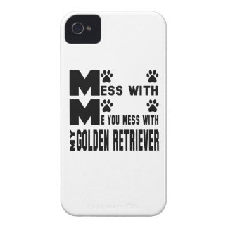 You mess with my Golden Retriever iPhone 4 Case-Mate Case