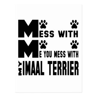 You mess with my Imaal Terrier Postcard