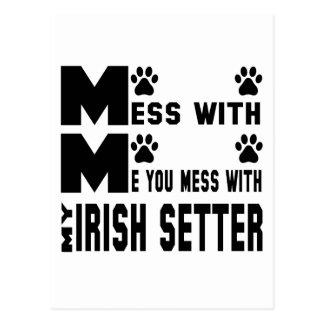 You mess with my Irish Setter Postcard