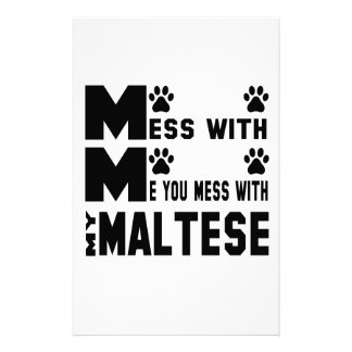 You mess with my Maltese Stationery