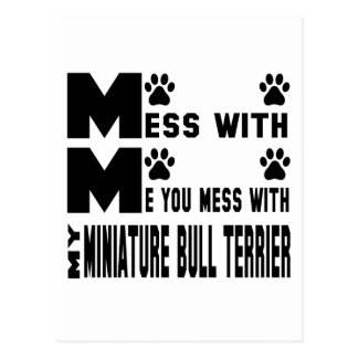 You mess with my Miniature Bull Terrier Postcard