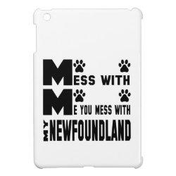 Case Savvy iPad Mini Glossy Finish Case with Newfoundland Phone Cases design