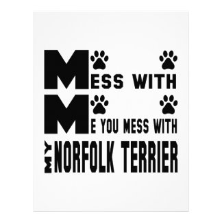 You mess with my Norfolk Terrier Letterhead