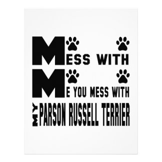 You mess with my Parson Russell Terrier Letterhead