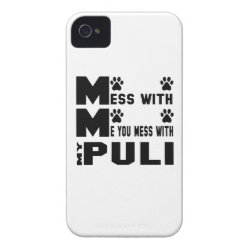 Case-Mate iPhone 4 Barely There Universal Case with Puli Phone Cases design