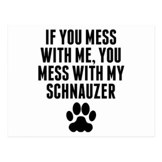You Mess With My Scottie Postcard