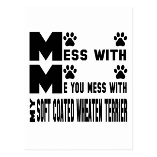 You mess with my Soft Coated Wheaten Terrier Postcard