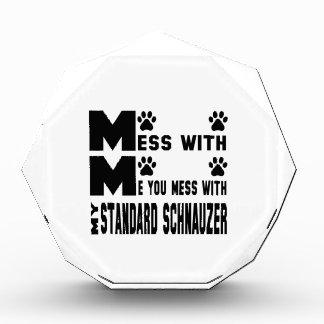You mess with my Standard Schnauzer Acrylic Award