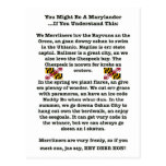 You Might Be A Marylander Postcard