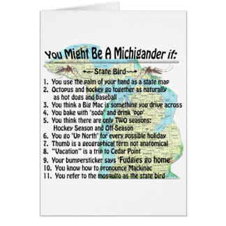 You Might Be A Michigander If: Card