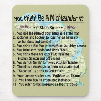You Might Be A Michigander If: Mouse Pad