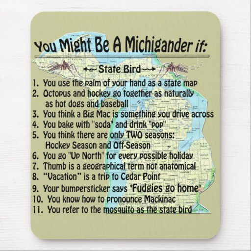 You Might Be A Michigander If: Mousepads