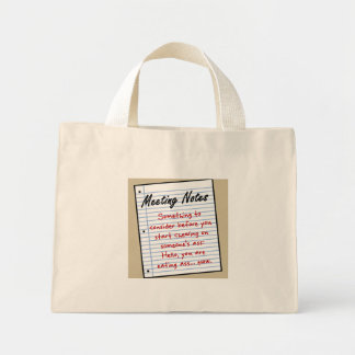 You Might Want to Think Twice Mini Tote Bag