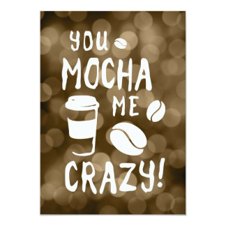 you mocha me crazy bokeh card