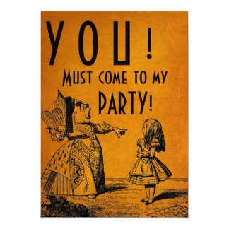 YOU! Must come to my PARTY! (Red Queen & Alice) Card