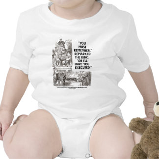 You Must Remember Or I'll Have Executed Wonderland T Shirt