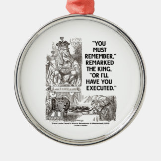 You Must Remember Or I'll Have You Executed King Ornaments