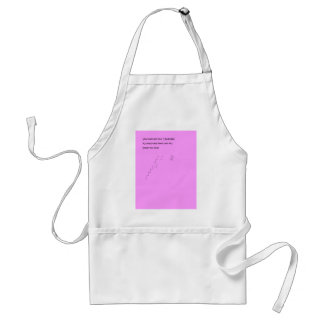 You must see your challenges as steps adult apron
