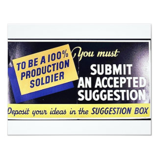 You Must Submit An Accepted Suggestion 4.25x5.5 Paper Invitation Card