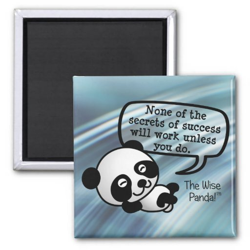You must work hard for success fridge magnet