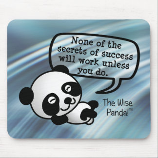 You must work hard for success mousepads