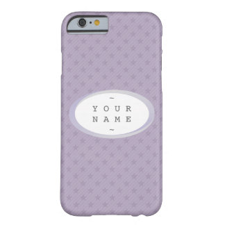 YOU NAME IT > Purple and Grey Stars Barely There iPhone 6 Case