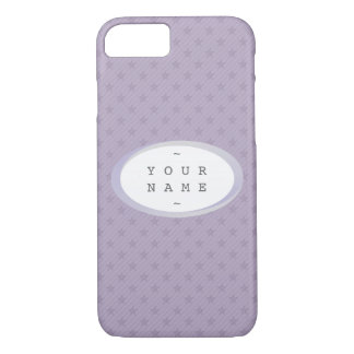 YOU NAME IT > Purple and Grey Stars iPhone 7 Case