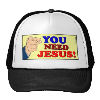 You need Jesus Christian gift design Mesh Hat